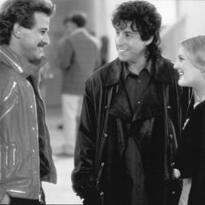Still of Drew Barrymore Adam Sandler and Allen Covert in The Wedding Singer 1998