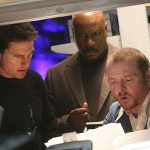 Still of Tom Cruise Ving Rhames and Simon Pegg in Mission Impossible III 2006