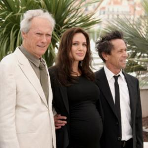 Clint Eastwood Angelina Jolie and Brian Grazer at event of Laumes vaikas 2008