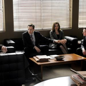 Still of Michael J Fox Julianna Margulies and Josh Charles in The Good Wife 2009