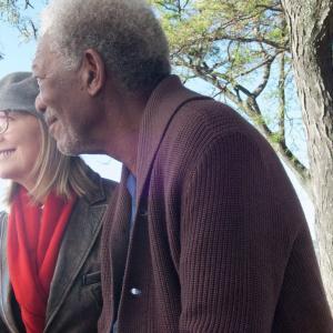 Still of Morgan Freeman and Diane Keaton in Musu gyvenimas (2014)