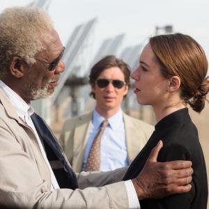 Still of Morgan Freeman, Rebecca Hall and Cillian Murphy in Viespatavimas (2014)