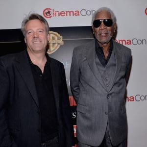Morgan Freeman and Wally Pfister