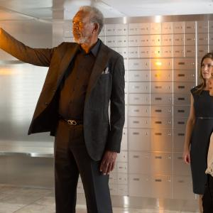 Still of Morgan Freeman, Mélanie Laurent and Jessica Lindsey in Apgaules meistrai (2013)