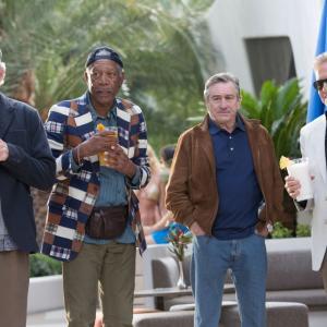 Still of Robert De Niro, Michael Douglas, Morgan Freeman and Kevin Kline in Paskutini karta Las Vegase (2013)