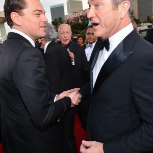 Leonardo DiCaprio and Mel Gibson