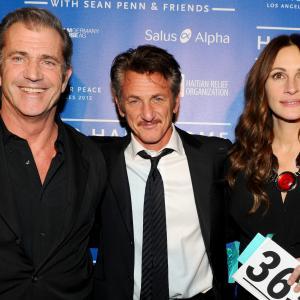 Mel Gibson, Julia Roberts and Sean Penn