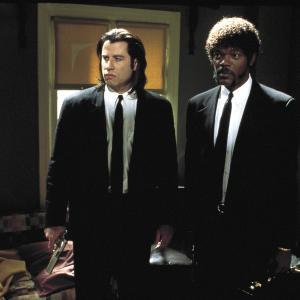 Still of Samuel L Jackson and John Travolta in Bulvarinis skaitalas 1994