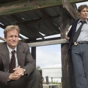 Still of Matthew McConaughey and Woody Harrelson in True Detective 2014