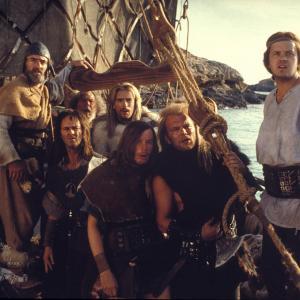 Still of Tim Robbins Gary Cady John Gordon Sinclair Freddie Jones Tim McInnerny Charles McKeown and Richard Ridings in Erik the Viking 1989