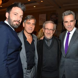 Ben Affleck George Clooney Steven Spielberg and Daniel DayLewis attend the 13th Annual AFI Awards