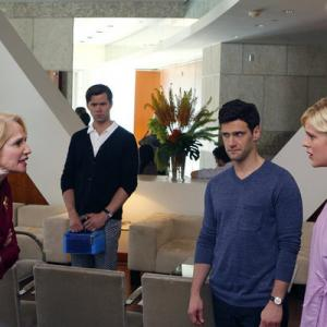 Still of Ellen Barkin Justin Bartha Andrew Rannells Georgia King and Trae Patton in The New Normal 2012