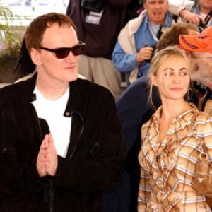 Quentin Tarantino and Emmanuelle Béart