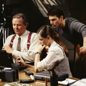 Still of Tom Cruise, Emmanuelle Béart and Jon Voight in Mission: Impossible (1996)