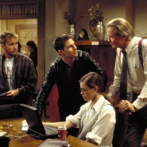 Still of Tom Cruise, Emmanuelle Béart, Emilio Estevez and Jon Voight in Mission: Impossible (1996)