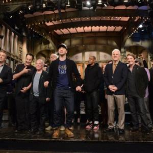 Still of Dan Aykroyd Steve Martin Alec Baldwin Chevy Chase Martin Short and Justin Timberlake in Saturday Night Live 1975