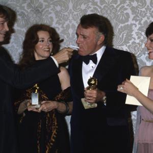 Jane Fonda with Peter OToole Richard Burton and Marsha Mason at The 35th Annual Golden Globe Awards