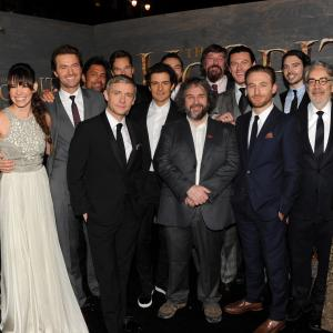 Stephen Fry, Peter Jackson, Richard Armitage, Orlando Bloom, Philippa Boyens, Martin Freeman, Dean O