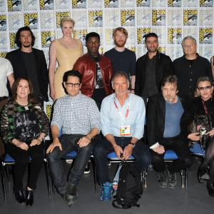 Harrison Ford, Carrie Fisher, Mark Hamill, Lawrence Kasdan, Kathleen Kennedy, J.J. Abrams, Chris Hardwick, Oscar Isaac, Domhnall Gleeson, Adam Driver, Gwendoline Christie, John Boyega, Daisy Ridley
