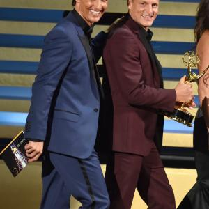 Matthew McConaughey and Woody Harrelson at event of The 66th Primetime Emmy Awards 2014