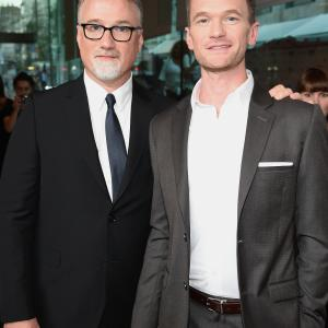 David Fincher and Neil Patrick Harris at event of Dingusi (2014)