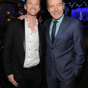 Actors Neil Patrick Harris and Bryan Cranston attend the 2014 Tony Honors Cocktail Party at the Paramount Hotel on June 2, 2014 in New York City.