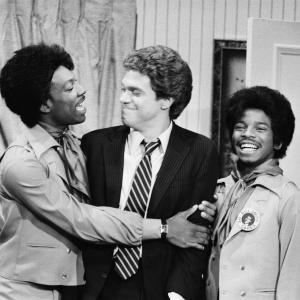 Still of Eddie Murphy Joe Piscopo and Clint Smith in Saturday Night Live 1975
