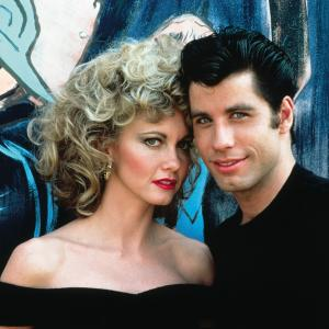 Still of John Travolta and Olivia Newton-John in Grease (1978)