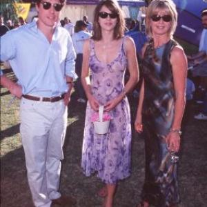 Elizabeth Hurley, Hugh Grant and Olivia Newton-John