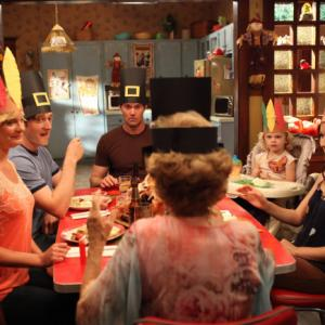Still of Martha Plimpton, Garret Dillahunt, Shannon Woodward, Lucas Neff and Rylie Cregut in Mazyle Houp (2010)