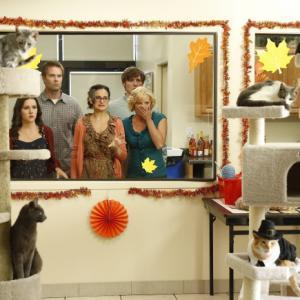 Still of Martha Plimpton, Garret Dillahunt, Shannon Woodward, Jenny Slate and Lucas Neff in Mazyle Houp (2010)