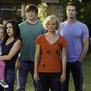 Still of Martha Plimpton, Garret Dillahunt, Shannon Woodward, Jimmy Lucas and Rylie Cregut in Mazyle Houp (2010)