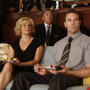 Still of Martha Plimpton, Garret Dillahunt and Greg Gayne in Mazyle Houp (2010)