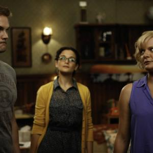 Still of Martha Plimpton, Garret Dillahunt and Jenny Slate in Mazyle Houp (2010)