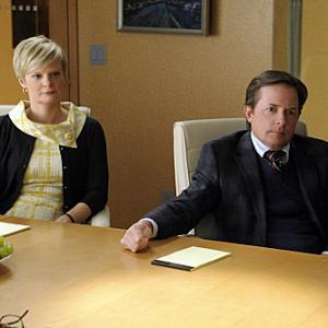 Still of Michael J. Fox and Martha Plimpton in The Good Wife (2009)