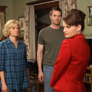 Still of Martha Plimpton, Mary Birdsong and Garret Dillahunt in Mazyle Houp (2010)