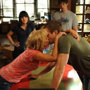 Still of Martha Plimpton, Garret Dillahunt, Shannon Woodward and Jimmy Lucas in Mazyle Houp (2010)