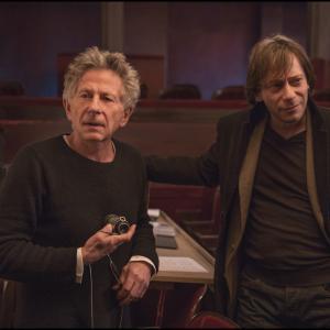Roman Polanski and Mathieu Amalric in Venera kailiuose 2013