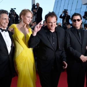 Quentin Tarantino, Uma Thurman, John Travolta, Kelly Preston, Lawrence Bender