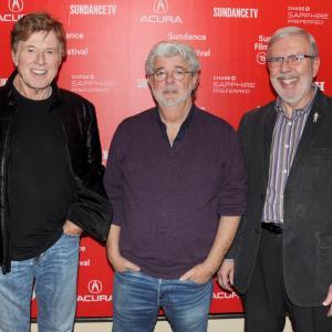 George Lucas, Robert Redford and Leonard Maltin