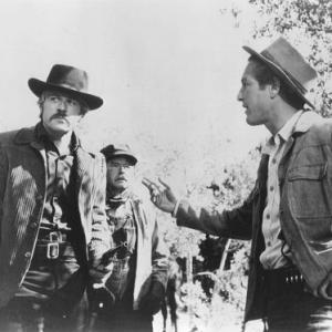 (l to r) Robert Redford, Don Keefer, and Paul Newman