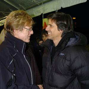 Robert Redford and Walter Salles at event of Diarios de motocicleta (2004)