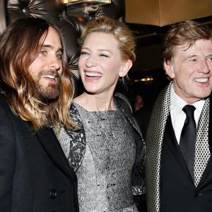 Robert Redford, Cate Blanchett and Jared Leto