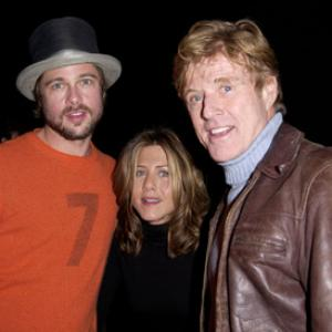 Brad Pitt, Jennifer Aniston and Robert Redford at event of The Good Girl (2002)