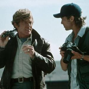 Still of Brad Pitt and Robert Redford in Spy Game (2001)