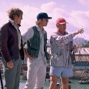 Brad Pitt, Robert Redford and Tony Scott in Spy Game (2001)