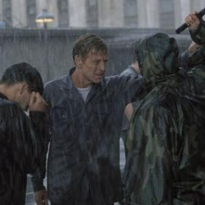Still of Robert Redford, Clifton Collins Jr. and Steve Burton in The Last Castle (2001)
