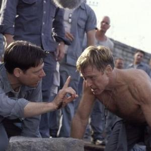 Still of Robert Redford and Frank Military in The Last Castle (2001)