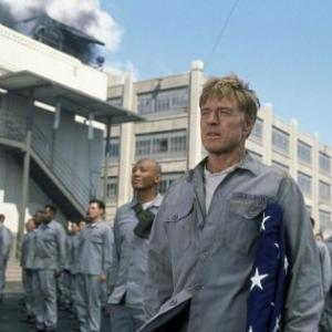 Still of Robert Redford and Paul Calderon in The Last Castle (2001)