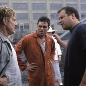 Robert Redford, Rod Lurie and Mark Ruffalo in The Last Castle (2001)